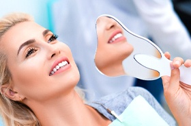 dental patient with mirror